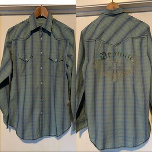 Guess for Men Plaid Western Shirt